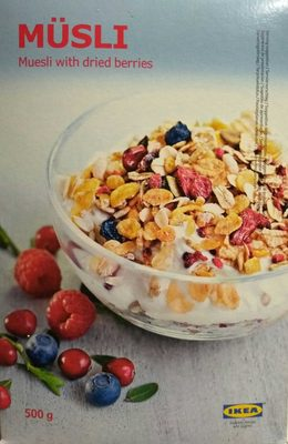Muesli with dried berries - Producto - es