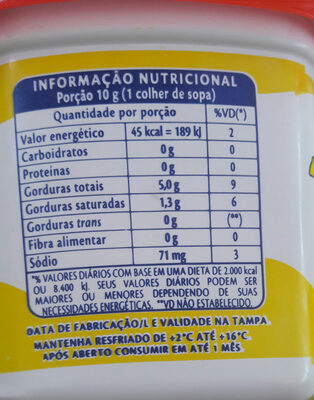 claybom - Nutrition facts - pt
