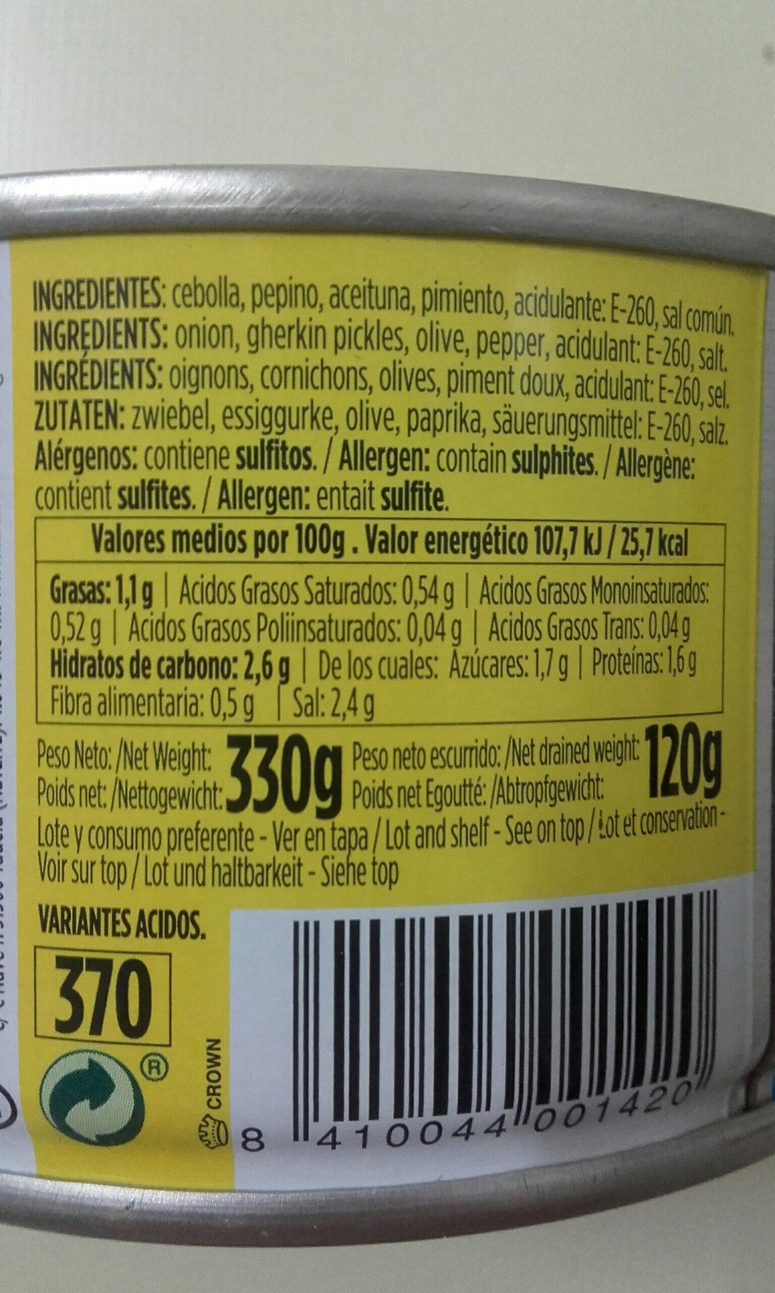 Toreras - Ingredients