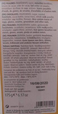 Napolitains Milk Dark - Informations nutritionnelles - fr