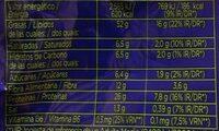 Pistache - Informação nutricional - fr