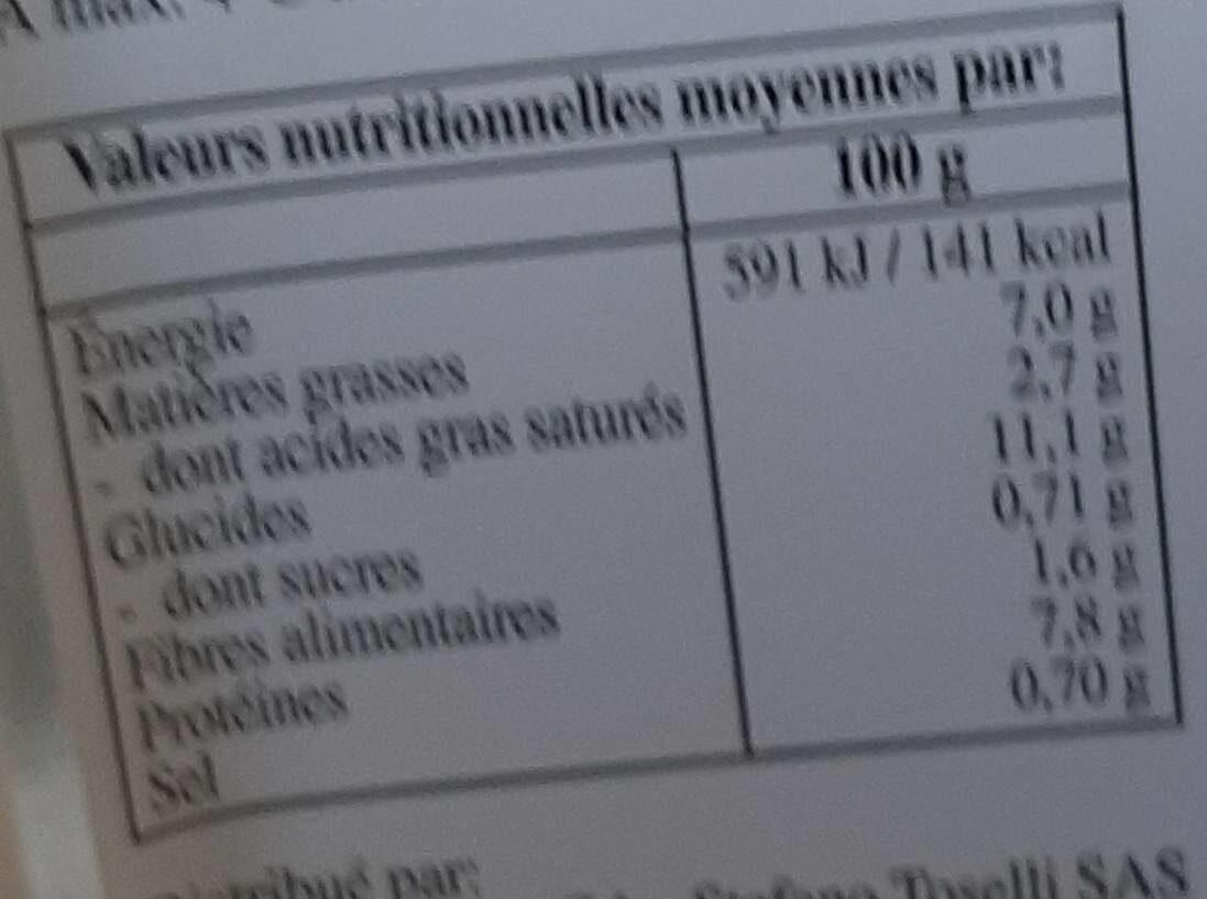 Lasagnes Bolognaise - Voedingswaarden - fr