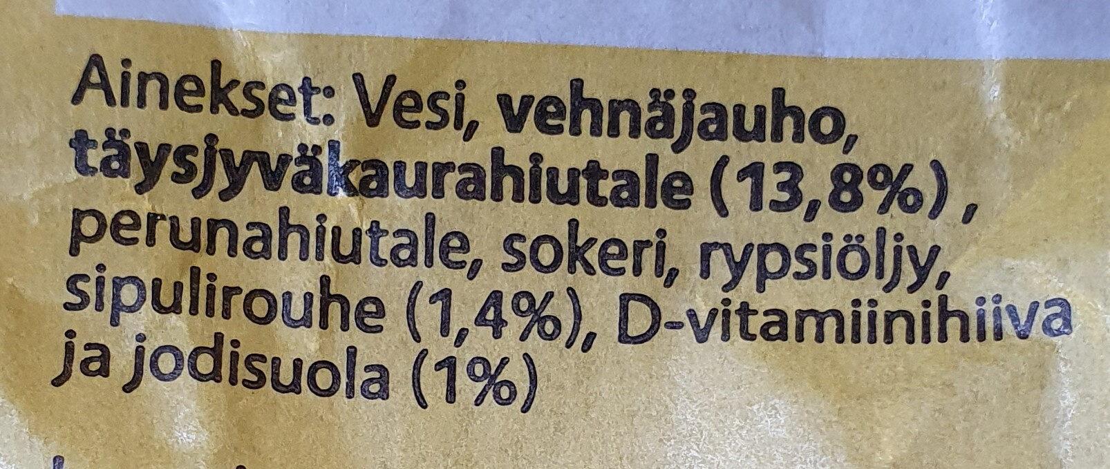 Kaurasipuli-sämpylä - Ingrédients - fi