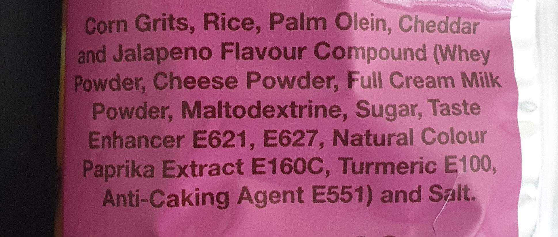 Crispy Sticks - Ingredients