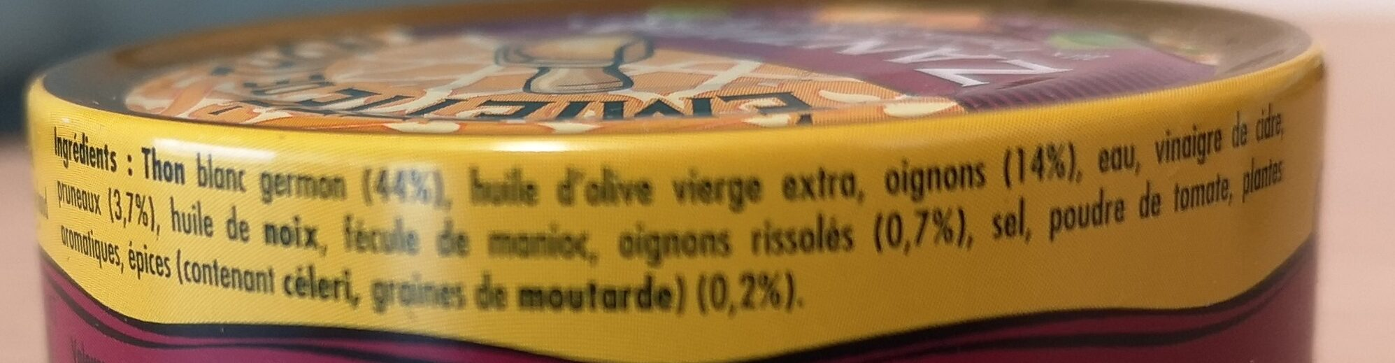 Emietté de thon zanzibar (pruneaux et épices) - Ingrediënten - fr