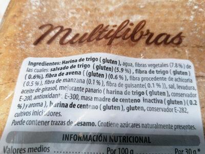 Multifibras - Ingrediënten - es