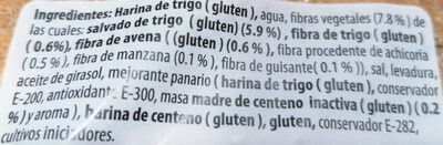 Pan multifibras - Ingredienti - es