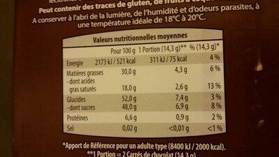 Chocolat  dessert  52% cacao  - aldi - 1 - Produit - en