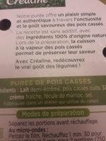 purée pois cassés - Informations nutritionnelles - fr
