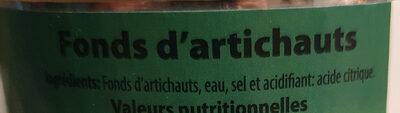 fonds d'artichauts - Ingrédients - fr