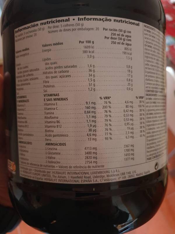 Rebuild - Nutrition facts - fr