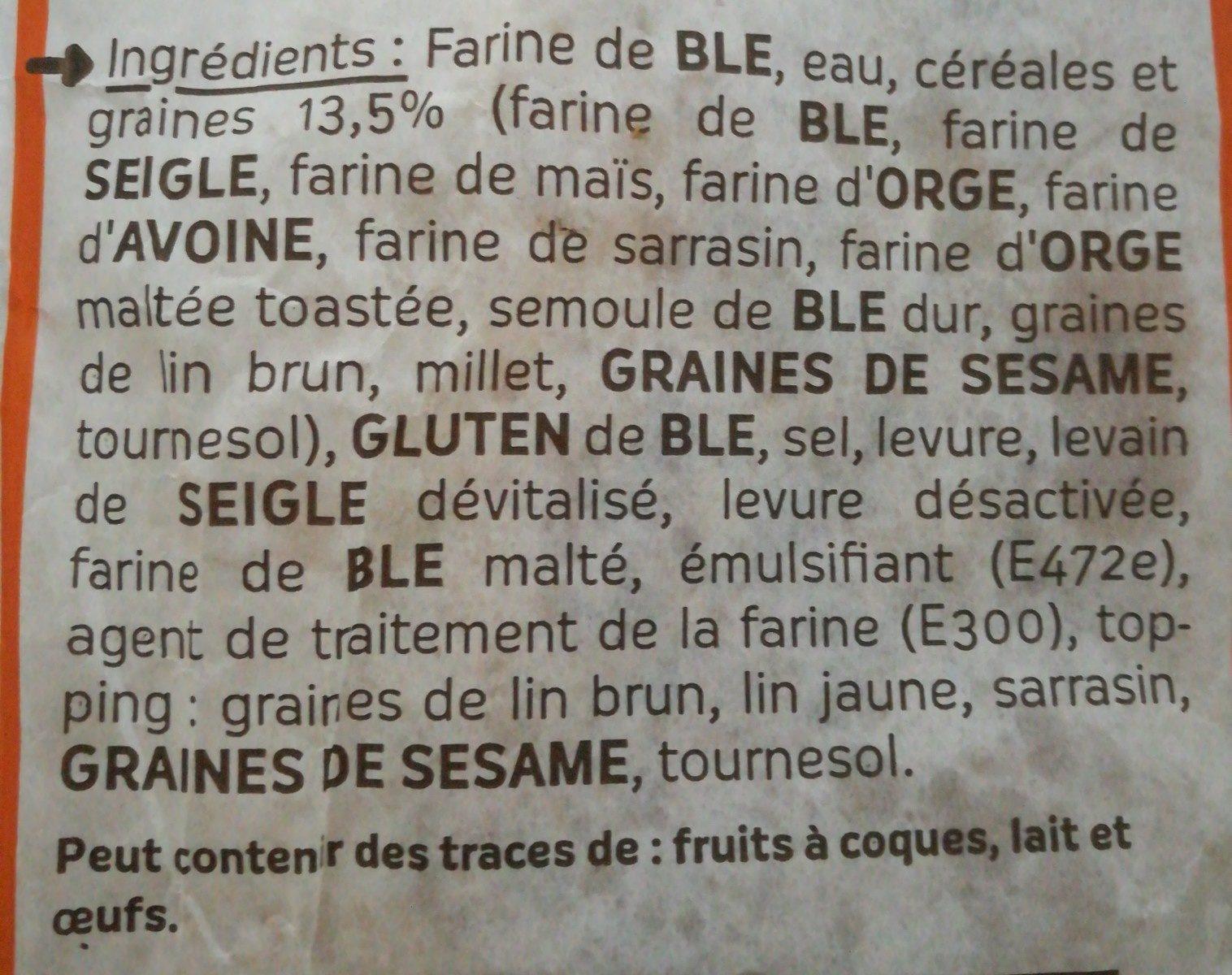 Batard céréales - Ingrédients - fr