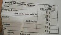 Batard céréales - Informations nutritionnelles - fr