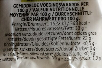 Brie - Voedingswaarden - fr