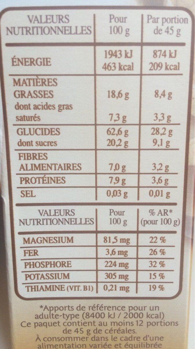 Country crisp - Voedingswaarden