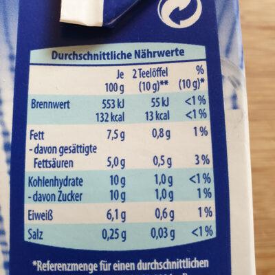 Kondensmilch - Nutrition facts