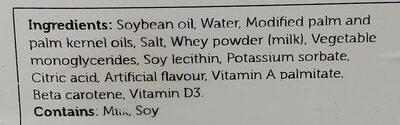margarine - Ingrédients - en
