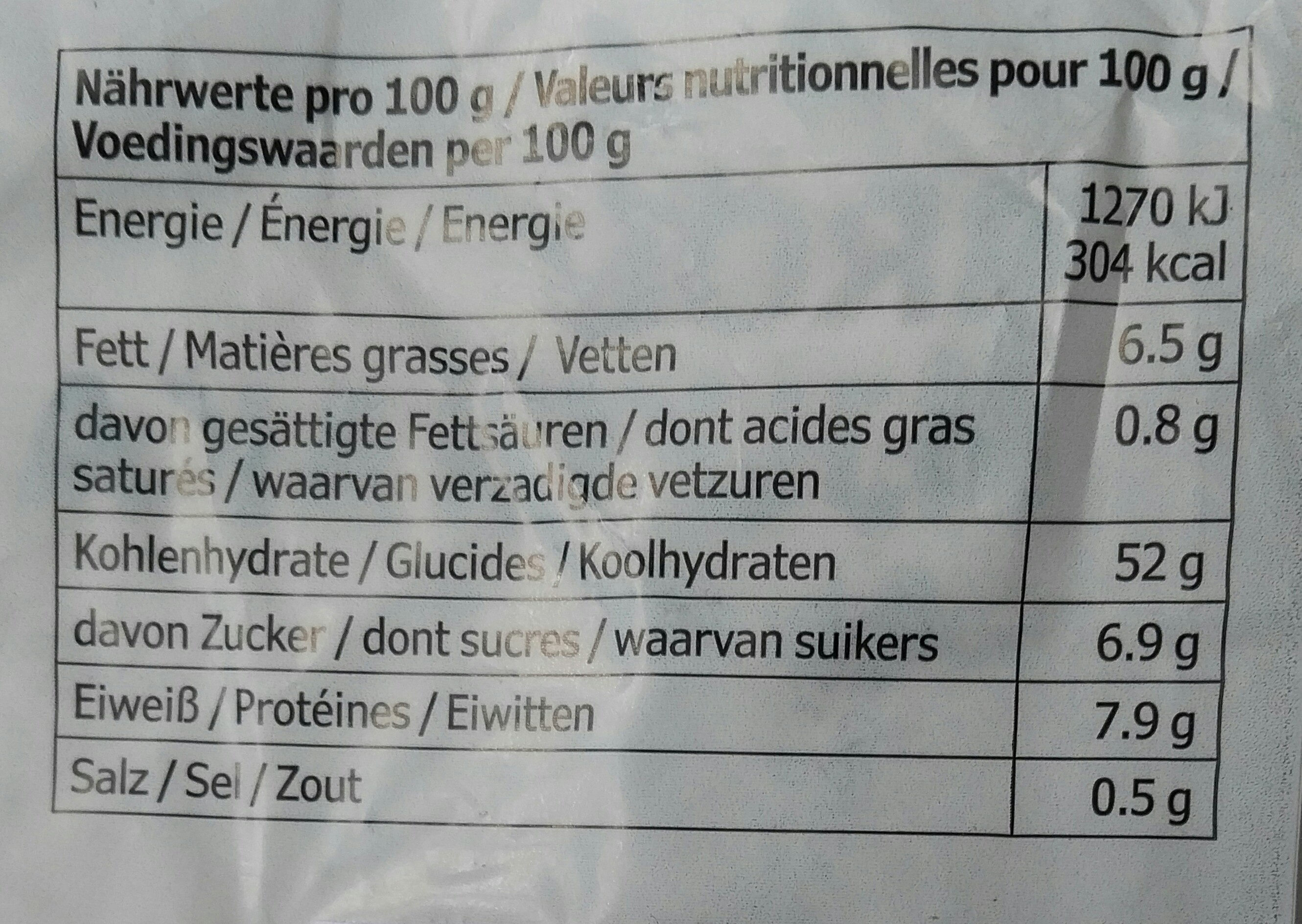 Bröd Mjukkaka - Nutrition facts