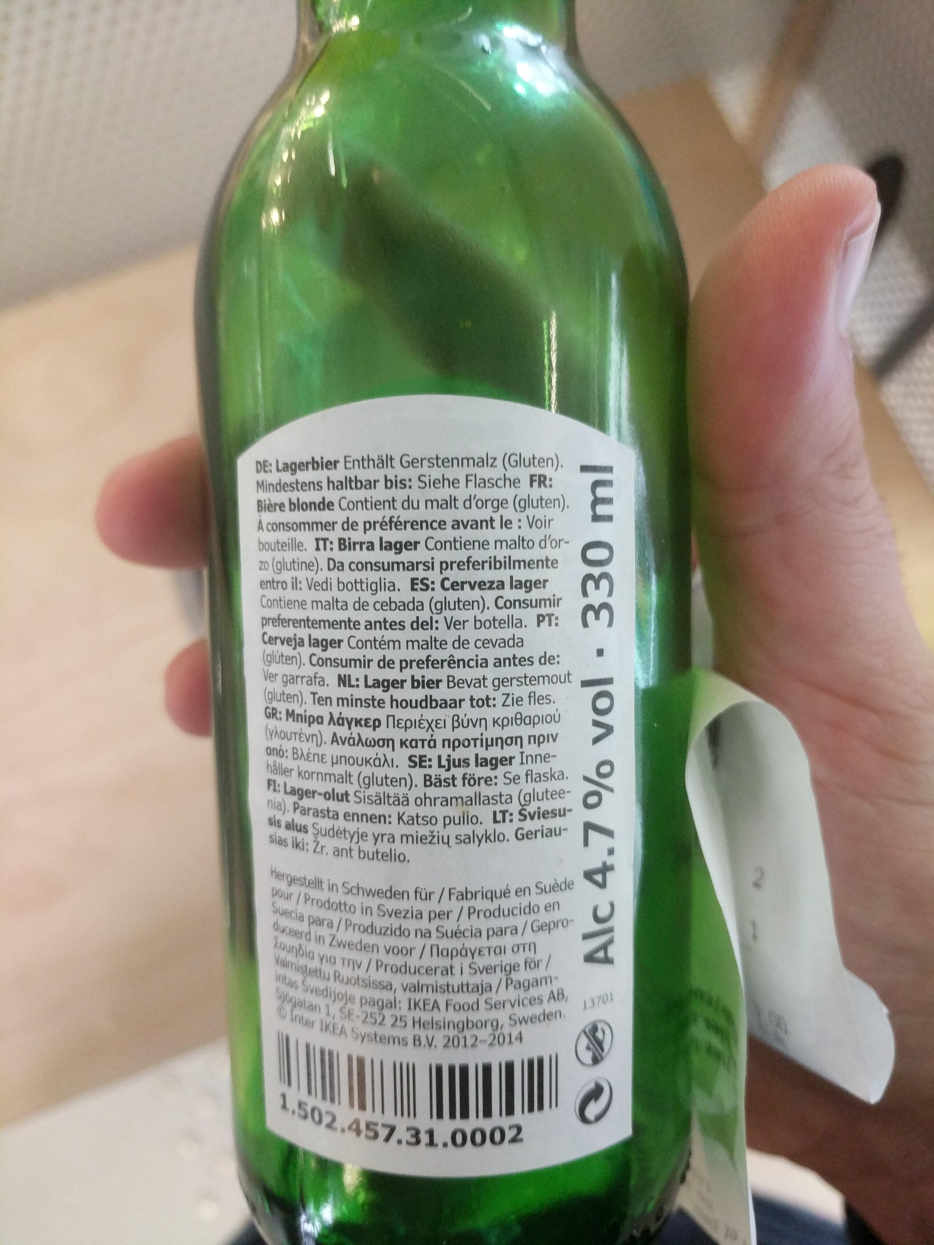 Öl ljus lager - Ingredients
