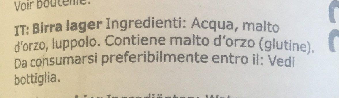 Öl ljus lager - Ingredienti - it