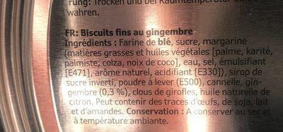 Vintersaga Ginger thins - Ingrédients - fr