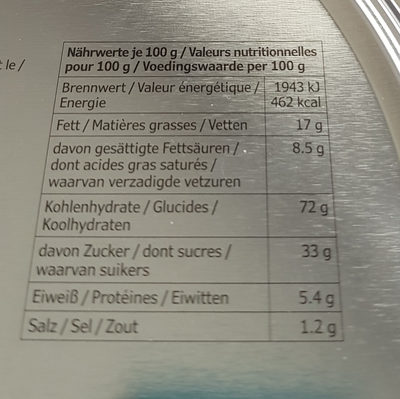 Vintersaga Ginger thins - Informations nutritionnelles - fr