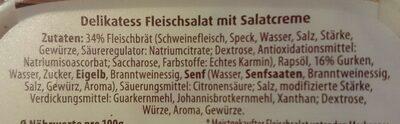 Delikatess Fleischsalat mit Salatcreme - Ingrédients - de