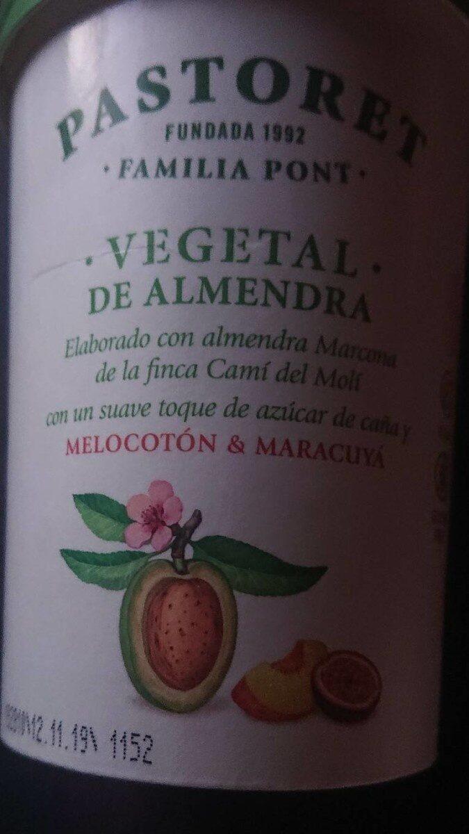 Vegetal de almendra melocotón & maracuyá - Información nutricional - es