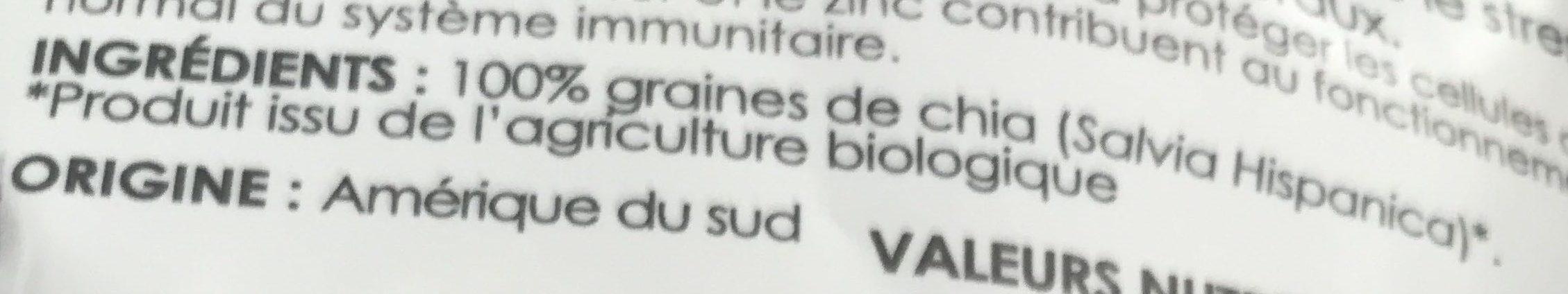 Graines de chia - Ingrédients - fr