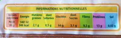 spaghetti complets bio casino - Nutrition facts