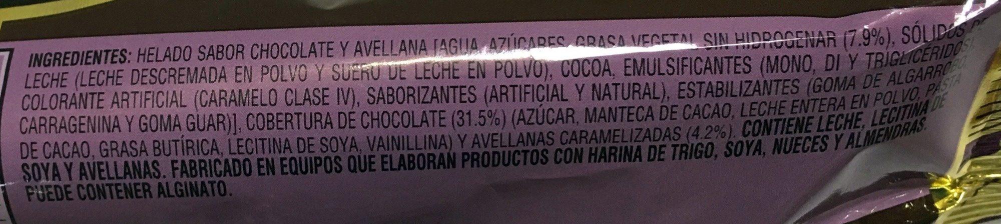Magnum Praliné - Ingredients - es