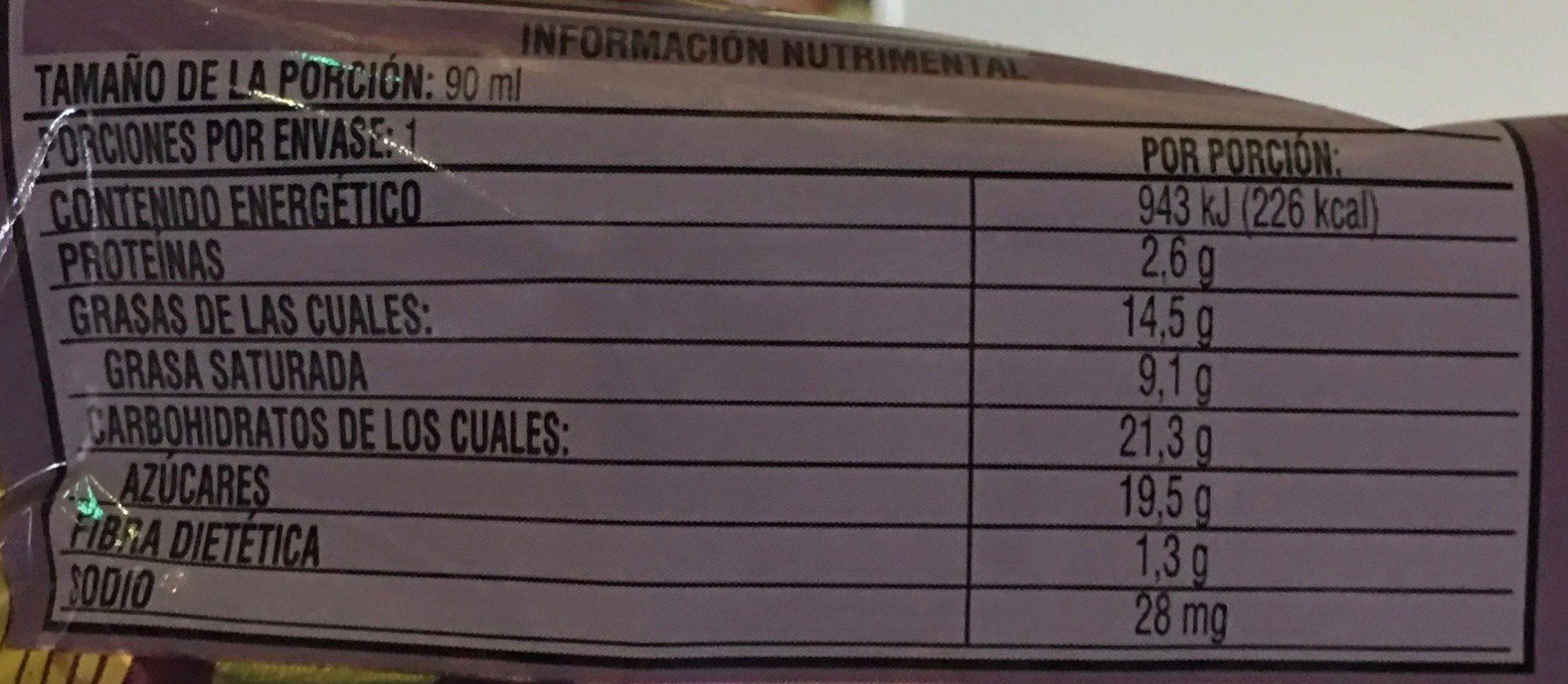 Magnum Praliné - Nutrition facts - es