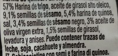 snackium quinoa - Ingredientes