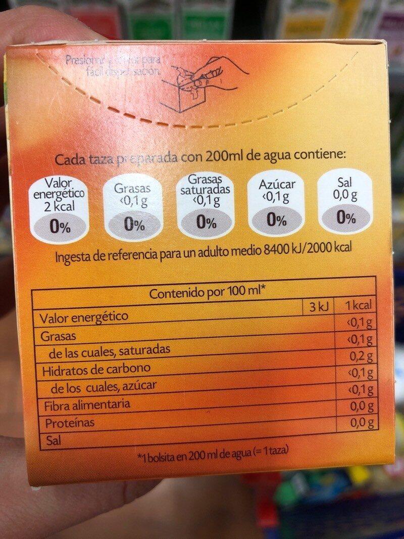 Jengibre puro - Voedingswaarden