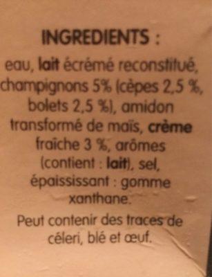 Cèpes & Bolets en soupe - Ingrédients