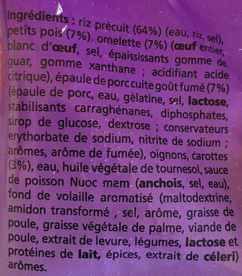 Riz cantonais produits surgele - Ingrediënten