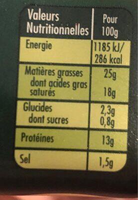 Saint agur creme - format maxi - Informations nutritionnelles - fr
