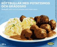 Köttbullar med Potatismos Och Gräddsås - Produit - fr