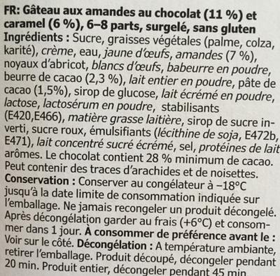 Tarta Chokladkokant - Ingredienti - fr