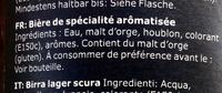 Öl Mörk Lager - Ingredients - fr