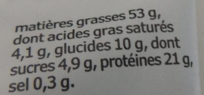 Amandes grillées pauvres en sel - Nutrition facts