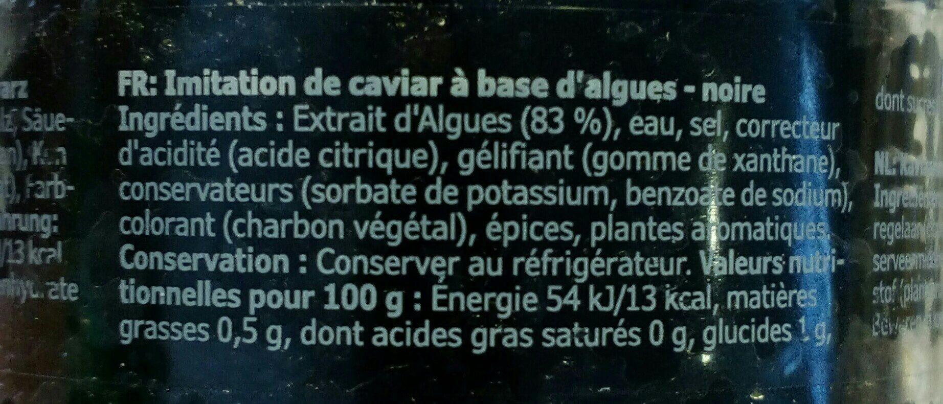 Sjorapport imitacion caviar ikea - Ingredients