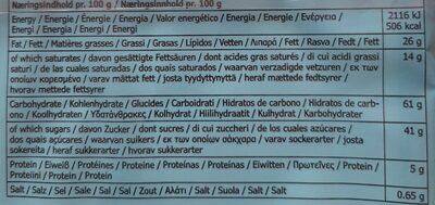 Kafferep - Informations nutritionnelles - fr
