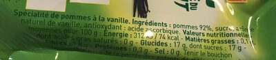 Andros pomme vanille - Ingrediënten