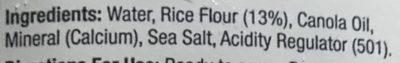 Inner goodness long life rice milk - Ingredients - en