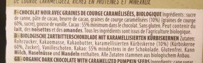 Noir 70 Pour Cent Sans Sucre Ajouté - Ingredienti