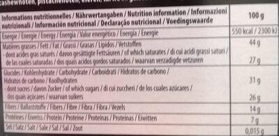 Noir 70 Pour Cent Sans Sucre Ajouté - Valori nutrizionali - fr