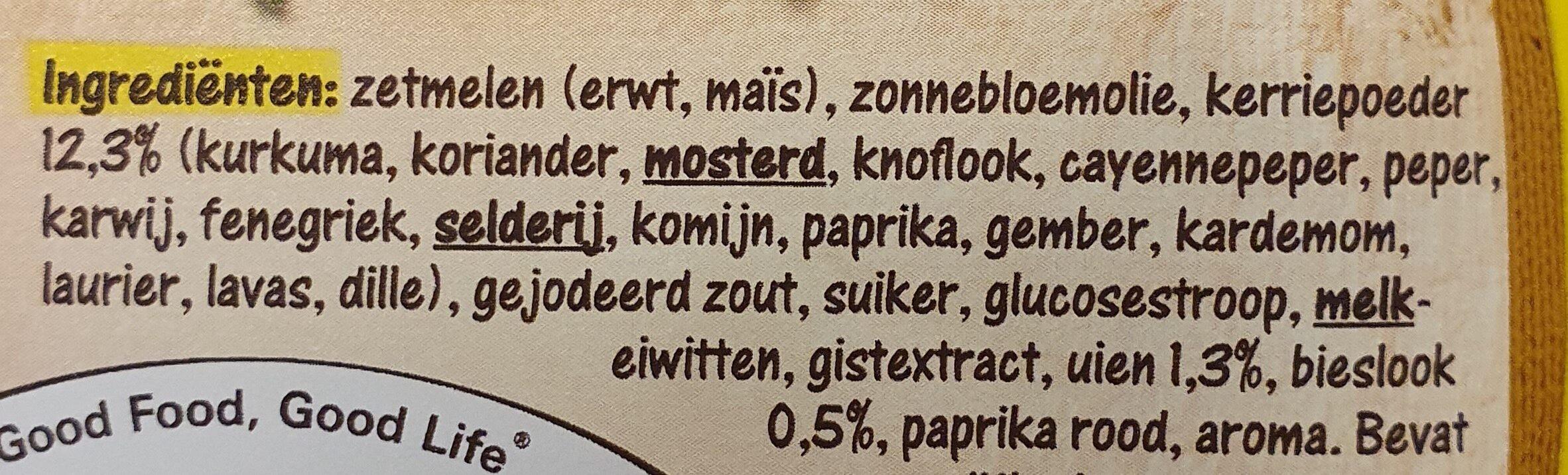 Sauce curry - Ingredientes - nl