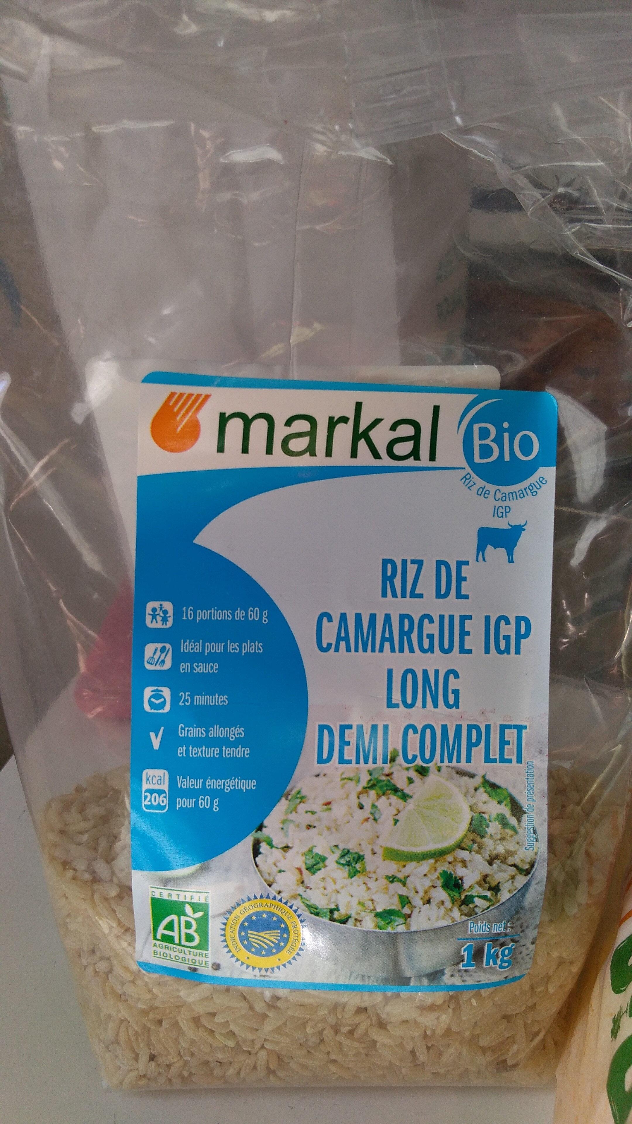 riz de Camargue demi complet long - Produit - fr