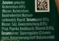 Hummus Arabia - Inhaltsstoffe